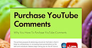 Purchase YouTube Comments