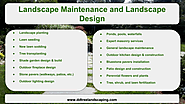 Landscape Maintenance and Landscape Design Services