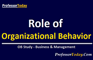 Role of Organizational behavior in Management & Business