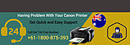 Dial Canon Printer Support Number 1800-875-393 to Quick Response