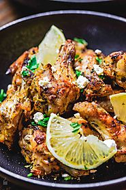 Greek Baked Chicken Wings Recipe with Tzatziki Sauce