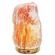 HemingWeigh Natural Hand Carved Himalayan Crystal Rock Salt Lamp, (8-10 Inch, 7-13 lbs), with Marble Base, Amber Glow...