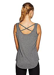 RBX Active Women's Heather Tank-Top w/ Back X-Straps Grey L