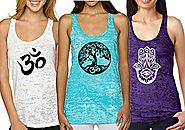 Yoga Tank Top - Burnout Racerback Pack of 3 (Medium, 1d Pack)