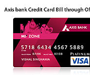 Axis Bank Credit Card Bill Through Offline