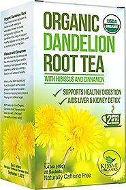 Dandelion Root Tea - Raw Organic Vitamin Rich Digestive - 1 Pack (20 Bags, 2g Each) - Detox Tea - Helps Improve Diges...