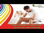Natural Remedies To Treat Erectile Dysfunction In Men Effectively