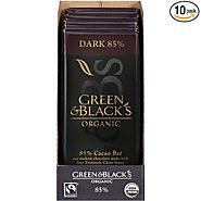 Green & Black's Organic Dark Chocolate, 85% Cacao