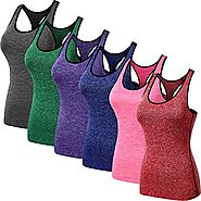 Neleus Women's 3 Pack Compression Dry Fit Tank Top