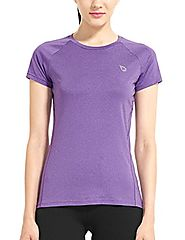 Baleaf Women's Short Sleeve Cool Feeling Running Shirt Mesh Back