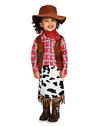 Toddler Cowgirl Princess Costume