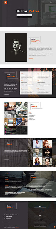 Petter - Graphic design portfolio website template From ThemeVault