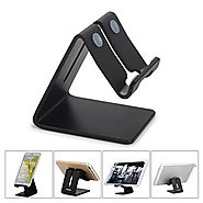 Honsky NEW VERSION Universal Aluminum Cell Phone Tablet Desk Charging Stand Portable Hands Free Desktop Display Holde...