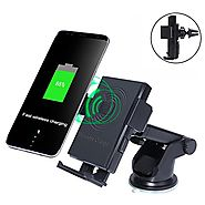 Wireless Car Charger Holder, Accmor QI Wireless 2-in-1 Cellphone Mount Charging Stand for Samsung Galaxy S8/ S8 Plus/...