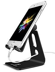 Adjustable Cell Phone Stand, Lamicall iPhone Stand : [UPDATE VERSION] Cradle, Dock, Holder For Switch, iPhone 7 6 6s ...