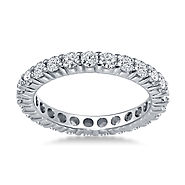 1 1/4 cttw. 14K White Gold Shared Prong Diamond Eternity Ring