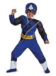 Toddler Blue Ranger Ninja Steel Muscle Costume