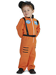 Orange Astronaut Toddler Costume