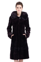 Faux purple mink cashmere long fur coat