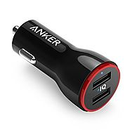 Anker 24W Dual USB Car Charger, PowerDrive 2 for iPhone 7 / 6s / Plus, iPad Pro / Air 2 / mini, Galaxy S7 / S6 / Edge...