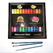 Watercolor Paint Set by Crafts 4 All 24 Premium Quality Art Watercolors Painting Kit for Artists, Students & Beginner...