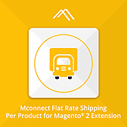 Magento 2 Flat Rate Shipping - Shipping Cost per Product Extension by Mconnect