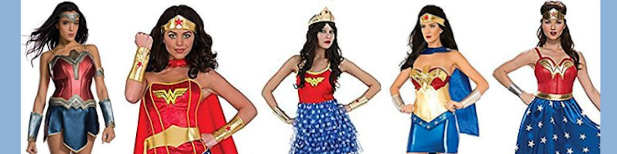 Headline for Wonder Woman Halloween Costumes
