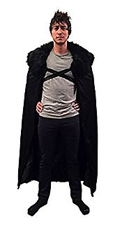 Game of Thrones Costume Jon Snow Night's Cosplay Cloak GoT Adult Mens Costume