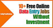 Top 10+ Legitimate Online Data Entry Jobs Without Investments