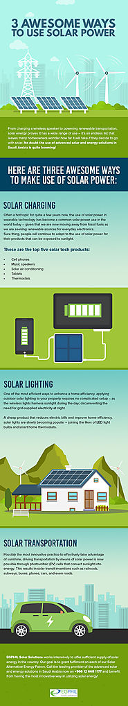 3 Awesome Ways to Use Solar Power