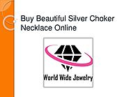Buy beautiful silver choker necklace online