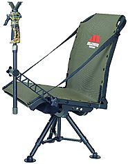 Millennium Treestands G100 Blind Chair - 400 Pound Capacity Swivel Hunting Chair - Best Heavy Duty Stuff