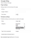Crosspost your Google+ posts to your WordPress blog with this plugin