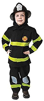 UHC Little Boy's Uniform Fireman Fire Fighter Toddler Kids Halloween Costume