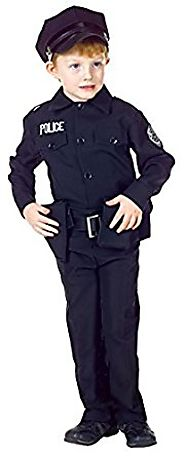 Boys - Policeman Set Kids Costume Md 6-8 Halloween Costume