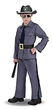 State Trooper Boys Costume - Child Medium