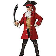NEW Kids Pirate Captain Hook Boys Halloween Costume 8 Boys Large (fits size 8)