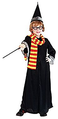 Kids Witch Robe Role Play Boys Magician Wizard Halloween Cosplay Costumes