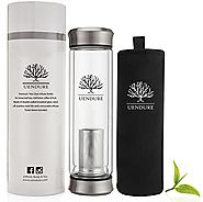 The Original Tea Infuser Bottle by UEndure – NEW & Improved V2 Design – Loose Leaf Tea Cup + Stainless Steel Filter -...
