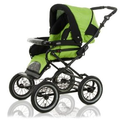 Roan Rocco Classic Pram Stroller 2-in-1 with Bassinet and Seat Unit 6 (Six) Colors - Lime