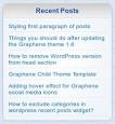 "WordPress › Recent Posts Widget Extended "" WordPress Plugins"