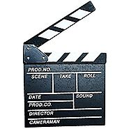 Clapboard, Yamix Wooden Clapboard Director Film Movie Cut Action Scene Slateboard Clapper Board Slate - Black S