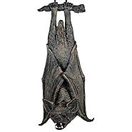 "20"" Rocking Bat Halloween Hanging Prop w/ Glowing Eyes & Sound"