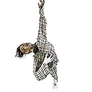 "Halloween Haunters 56"" Hanging Animated Ghoul Torso Prop Decoration - Head Turns, Arms Move, Red Evil Eyes, Skeleton ..."
