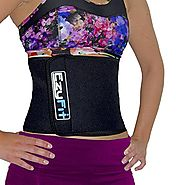 EzyFit Waist Trimmer - Premium Weight Loss Exercise Ab Belt - Back Posture Support- Stomach Sweat Wrap - Strengthen T...