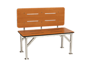 "Seachrome SSBB 48""W X 18""H X 24""D Stationary Bench Seat With Back Rest 