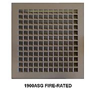 "Air Louvers 1900ASG 18""(W) X 18""(H) Fire-Rated Louver With Security Grille 