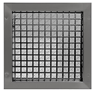 "Air Louvers 5""(W) X 35""(H) Door Lite With Security Grille 