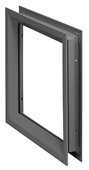 "NGP Fire Rated 12""(W) X 12""(H) Door Vision Kit, Gray Primer Finish 