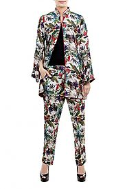 PRINT ON PRINT JACKET SUIT BY ALLURE